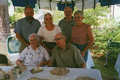 Bernard and Catherine at their 50th Wedding Anniversary party with Joe, Ann, Chris and Gail.