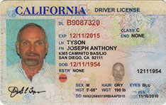 California Driver License Expires 2010 to 2015