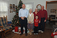 Christmas 2012 - Mattaponi, VA - Joe, Catherine, Ann, Timothy, Chris