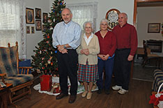 Christmas 2012 - Mattaponi, VA - Joe, Catherine, Ann, Chris