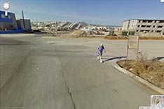 Joe on Google map in Cabo San Lucas. Corner of Calle Flor de Pitaya and Calle Los Cabos. 2009.