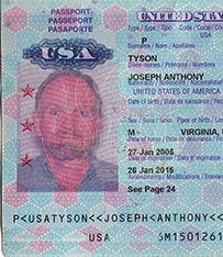 USA Passport photo Joseph A. Tyson - 2005
